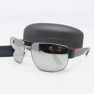 SPR 56V 5AV-09F Prada Silver Mirrored Sunglasses
